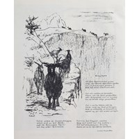 Illustration To Mountain Goats by Christian Morgenstern