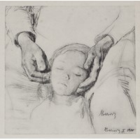 Head of a Child in its Mother's Hands (Study of the Down Trodden)