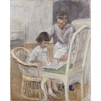 The Artist's Grand-Daughter with her Nurse