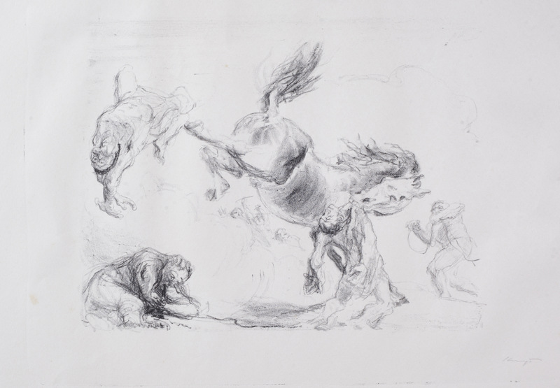 Visions Plate 9: Defence (A Struggling Horse)