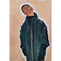 Egon Schiele - Boy in a green coat