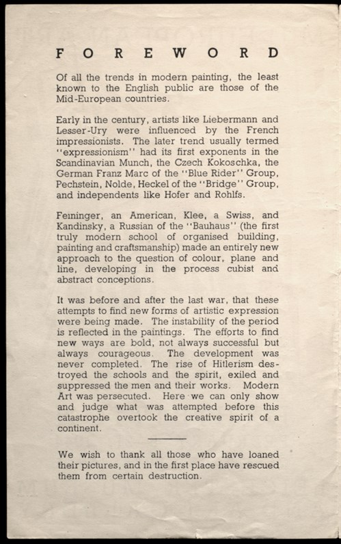Mid-European Art Exhibition Catalogue Detail 1