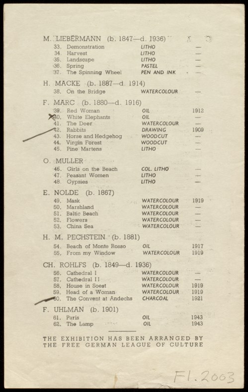 Mid-European Art Exhibition Catalogue Detail 3